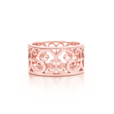 Tiffany Enchant® wide ring in Rubedo® metal