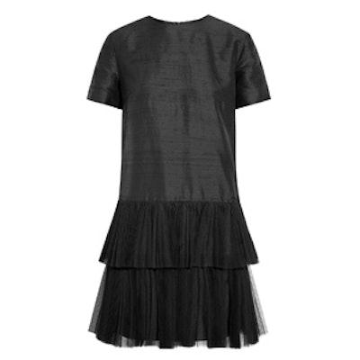 Phyllie Tulle Silk Mini Dress