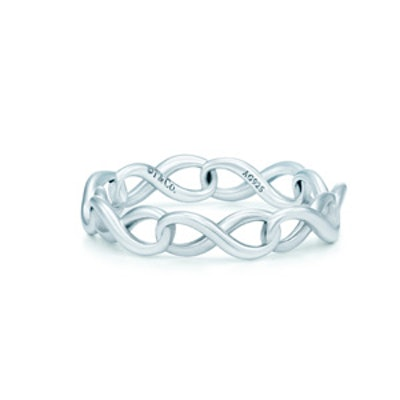 Tiffany Infinity narrow band ring in sterling silver