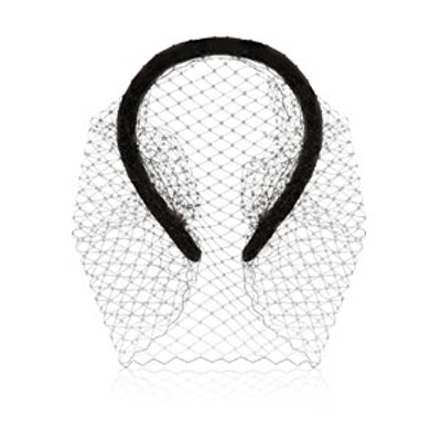 Grosgrain & Net Headband