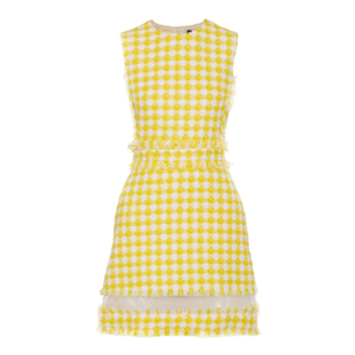 Organza Tweed Gingham Dress