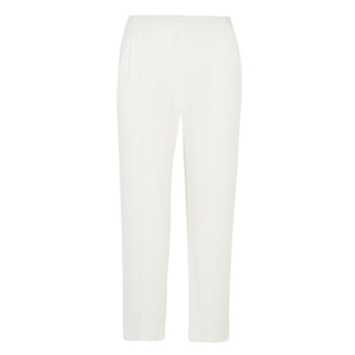 Cropped Crepe Tapere Pants