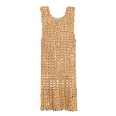 Rosie Metallic Crochet Dress