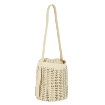 Leather & Chain Mail Bucket Bag