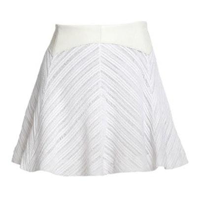 Leather-Trimmed Basha Skirt