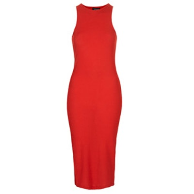 Ribbed Body-Con Midi Dress