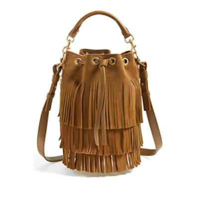 Seau Fringed Suede Bucket Bag