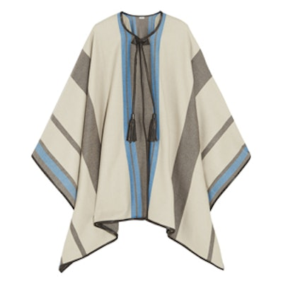 Striped Cashmere Wool-Blend Cape