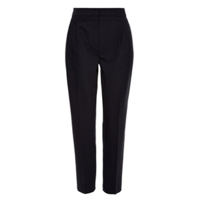Tropical Wool Pleat Skinny Pant