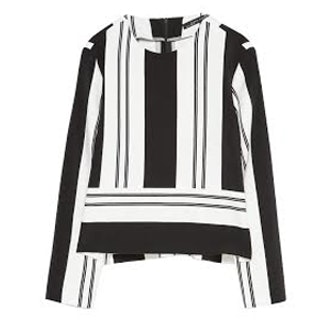 Striped Crop Top with Side Slits