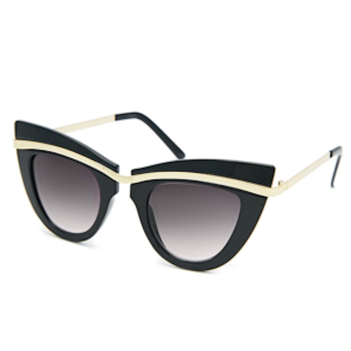 Metal-Top Cat-Eye Sunglasses