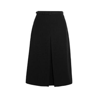 Pleated Cady Skirt