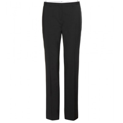 Straight Wool Trousers