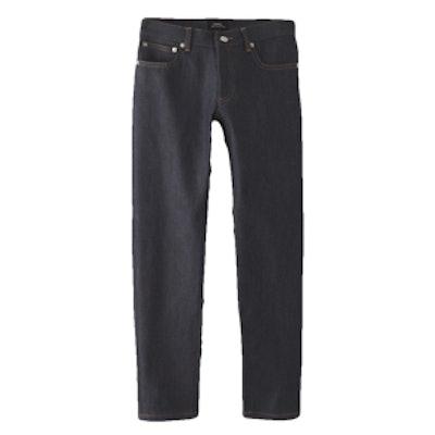 Cropped Raw Denim Jean