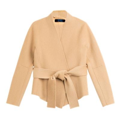 Belted Cashmere Wrap Jacket