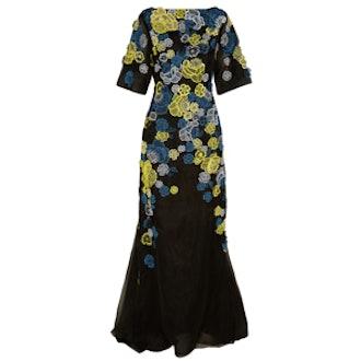 Carsani Silk-Organza Gown