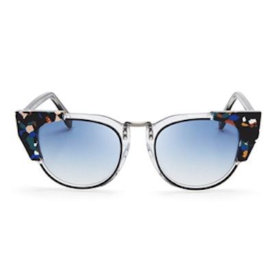 Multicolored Cat-Eye Sunglasses