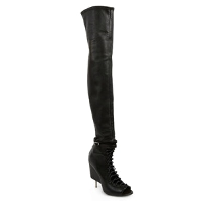 Thigh-High Lace-Up Boots