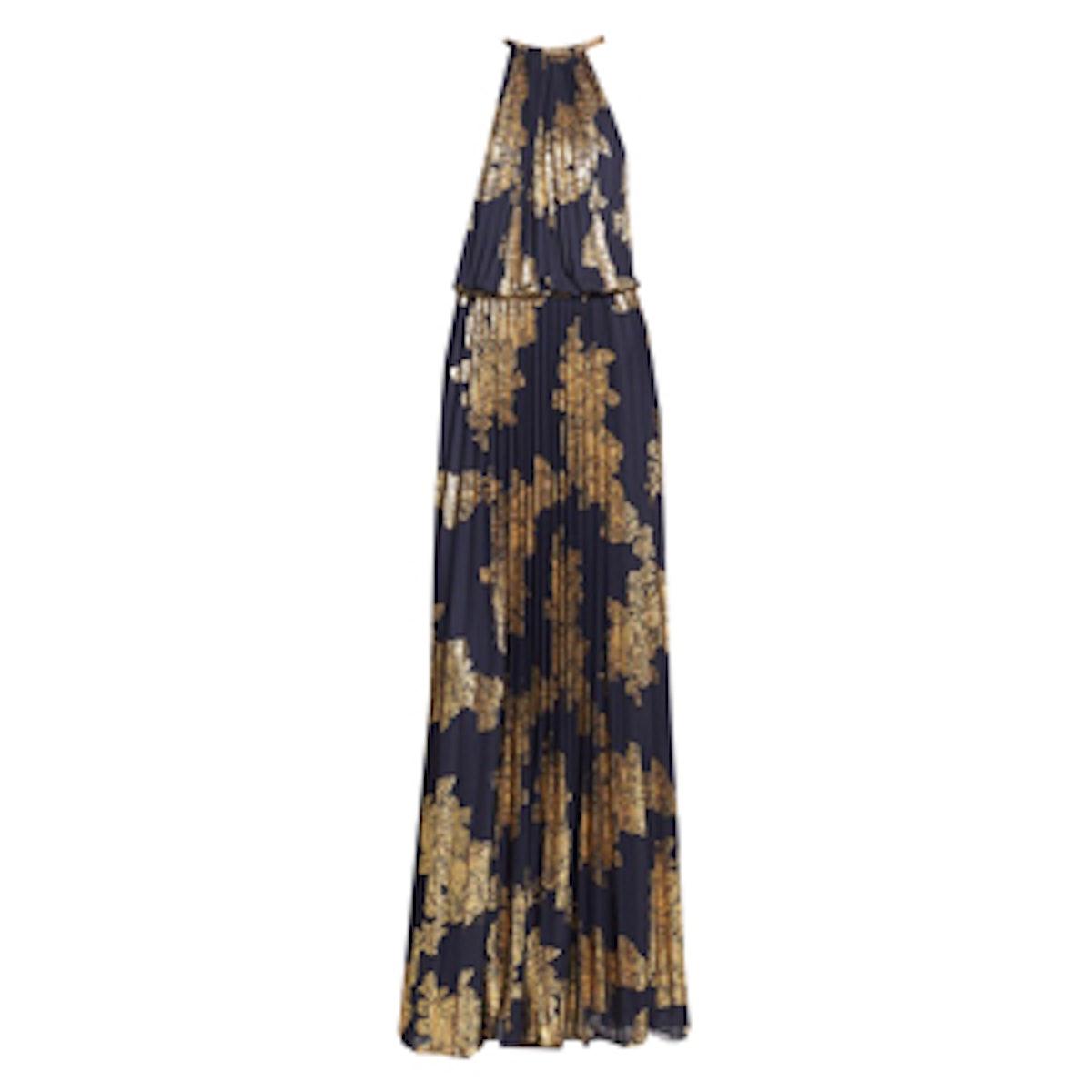 Foiled Blouson Gown