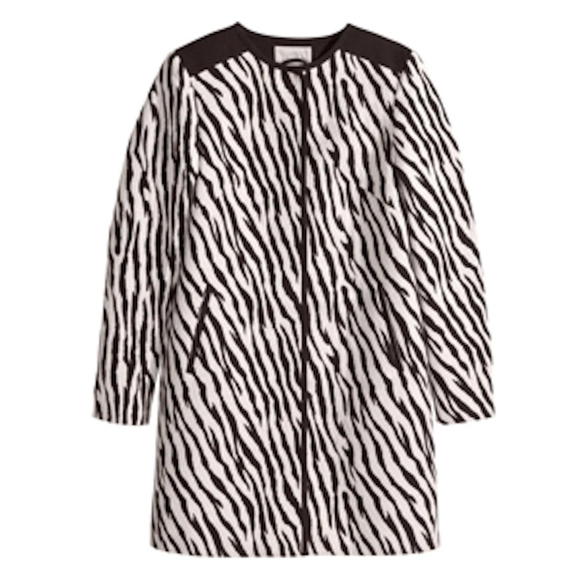 Zebra Jacquard Coat