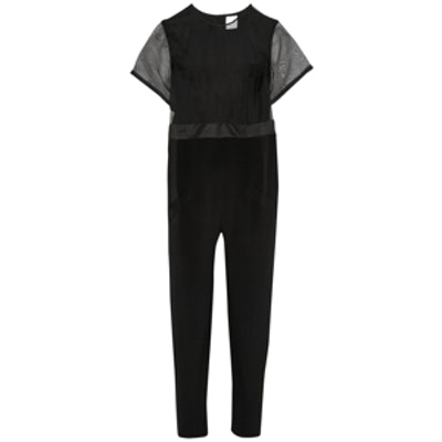 Silk-Crepe Jumpsuit