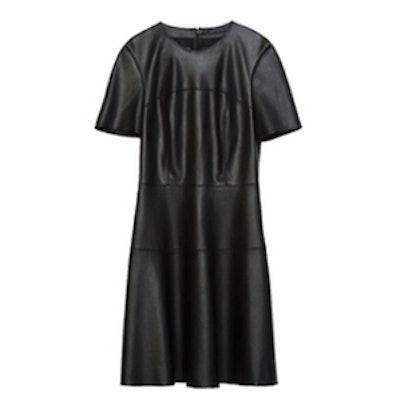 Faux Leather Dress