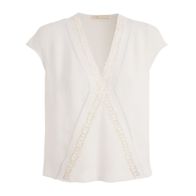 Laly Crepe And Lace Top