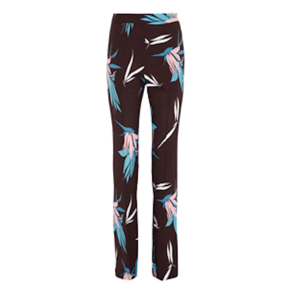 Printed Crepe Pants