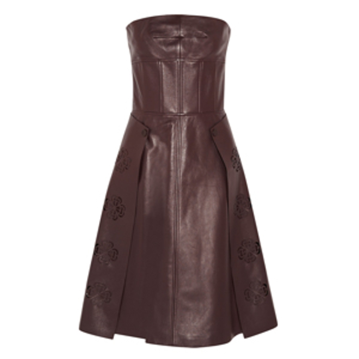 Laser-cut Leather Dress