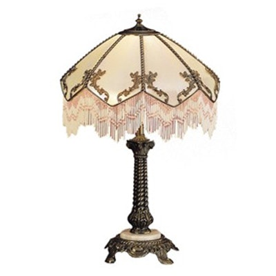 Tiffany Regina Fringed Table Lamp