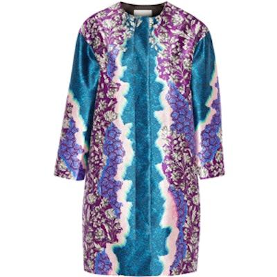 Printed Silk-Twill Coat