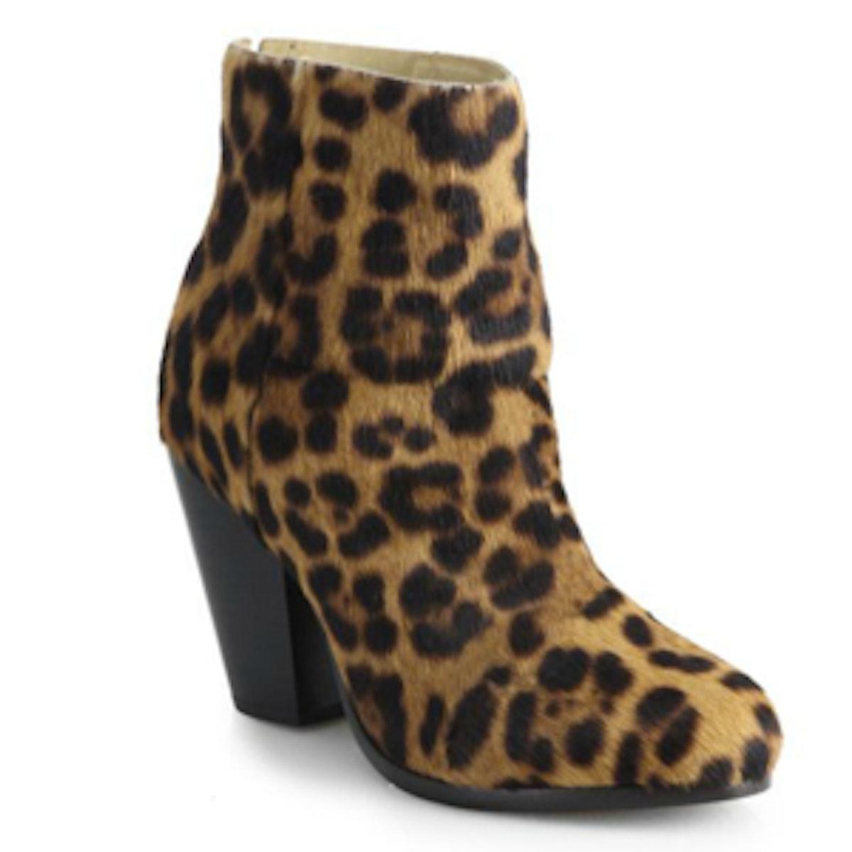 Newbury Leopard-Print Calf Hair Ankle Boots