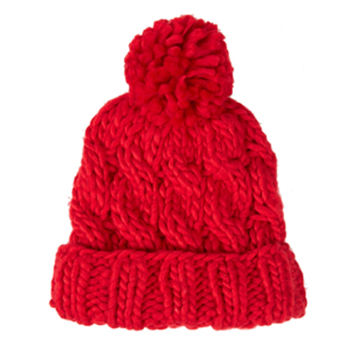Hand-Knit Cable Beanie