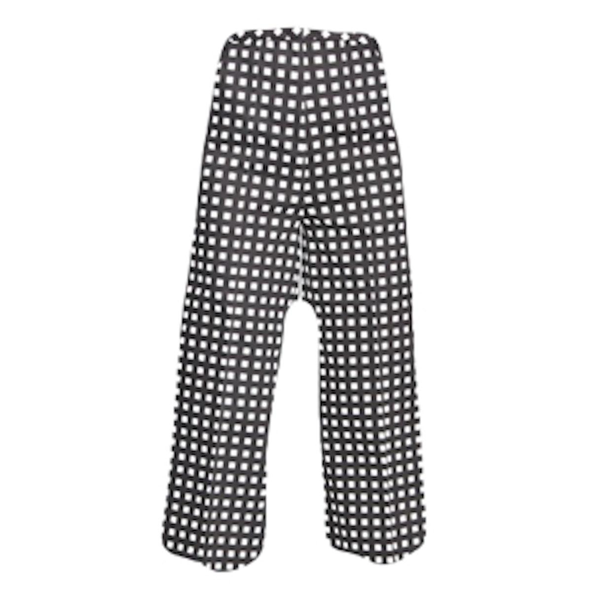 Gingham Printed Cotton Pants