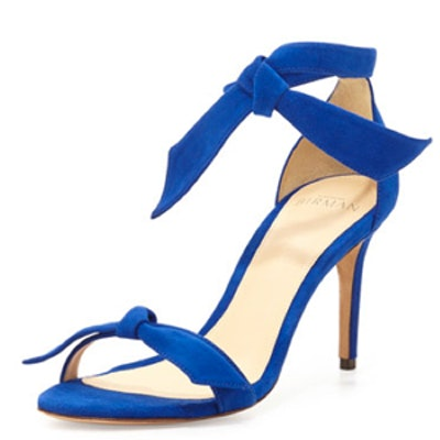 Suede Tie Sandal