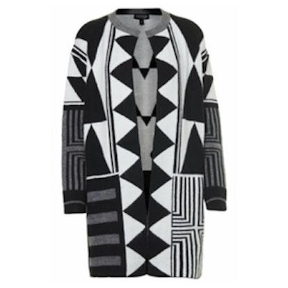 Mono Patterned Cardigan Coat