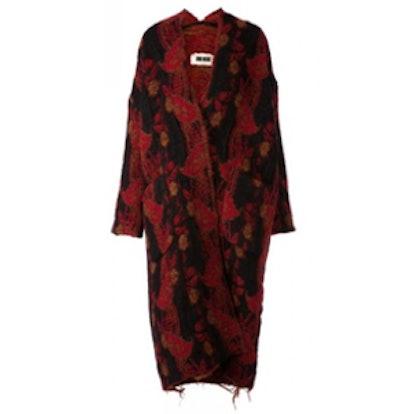 Jacquard Knit Oversize Coat