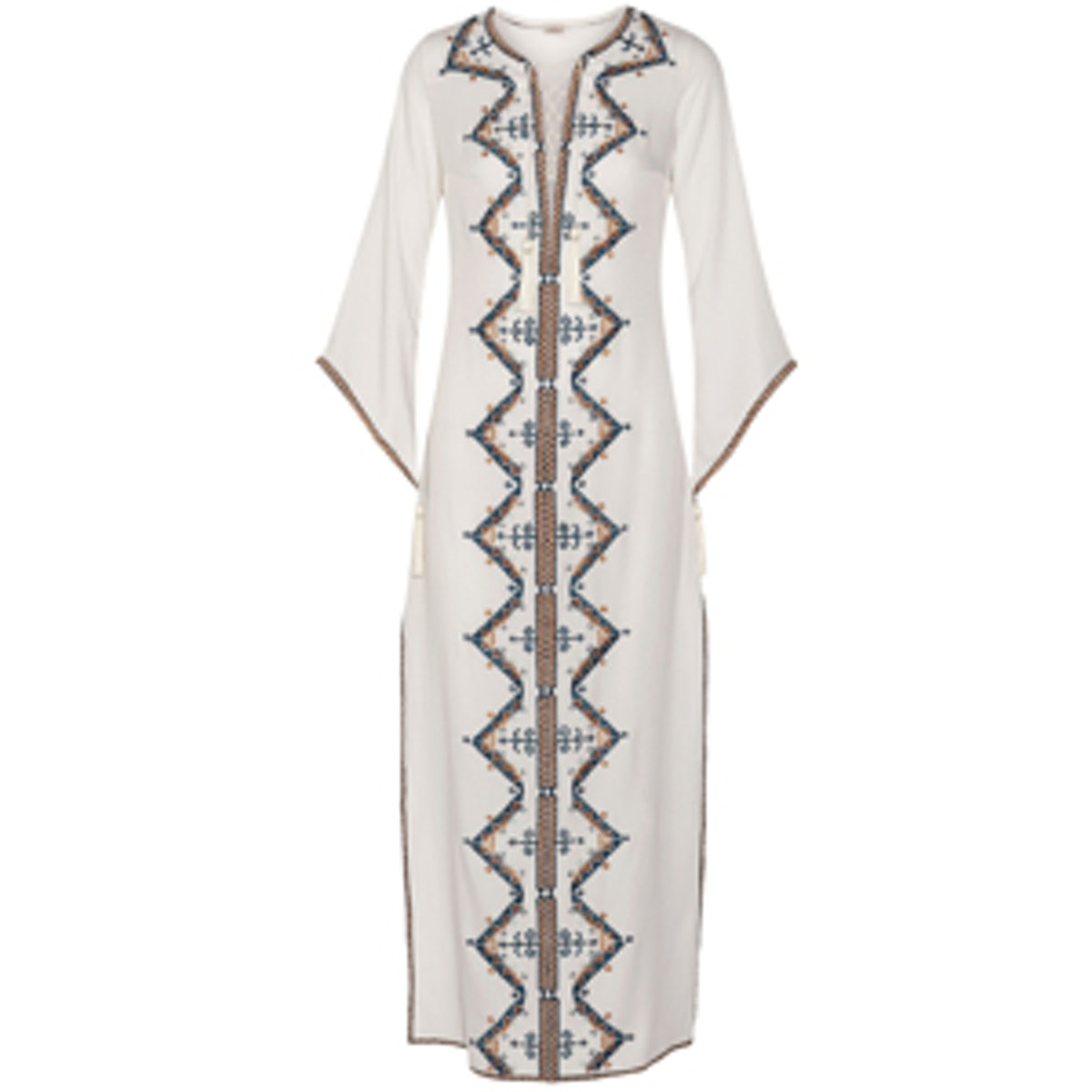 Embroidered Cotton Caftan