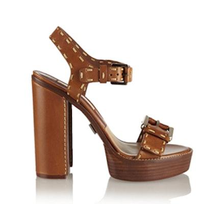 Jane Leather Platform Sandals