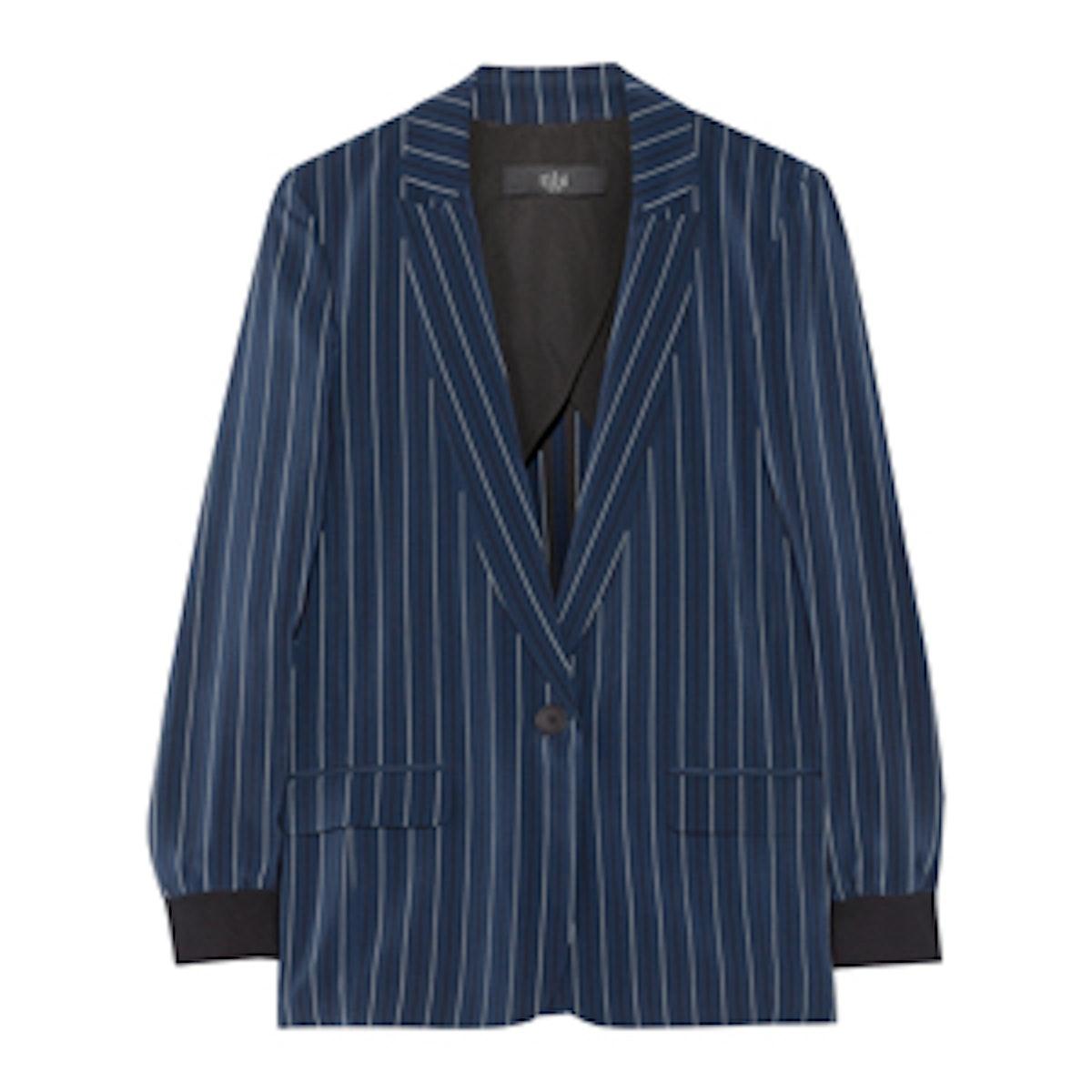Striped Silk Blazer