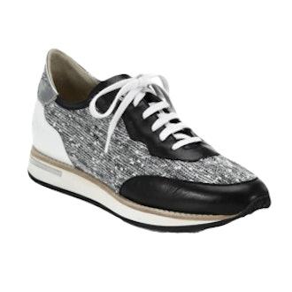 Leather & Tweed Sneakers
