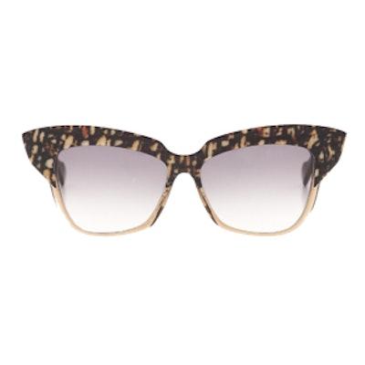 Brown Tweed Cat-Eye Sunglasses