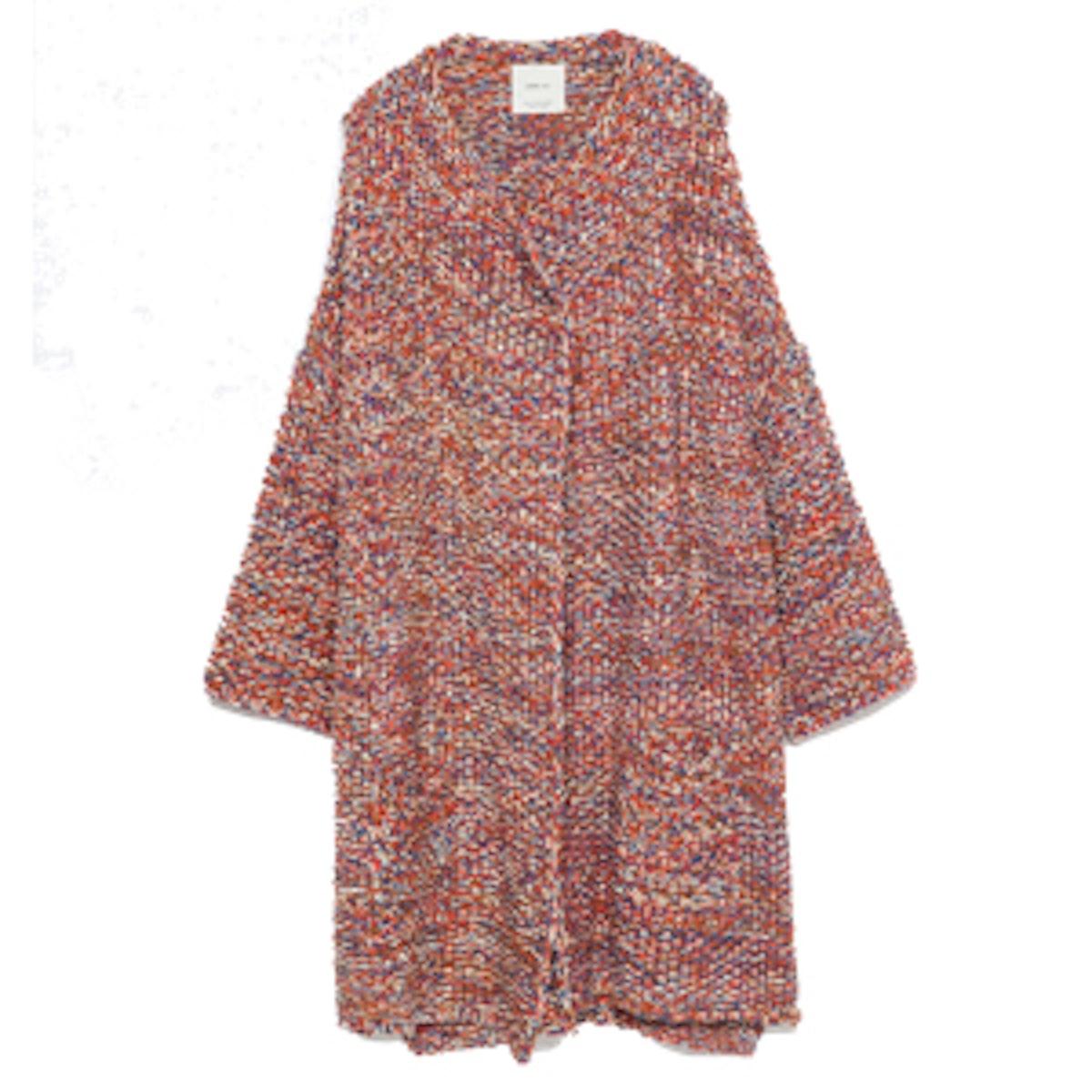 Multicolored Knit Poncho