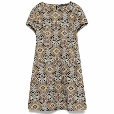Jacquard Straight Dress