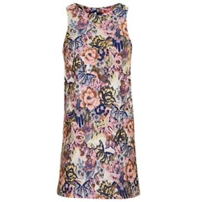 Oriental Floral Shift Dress