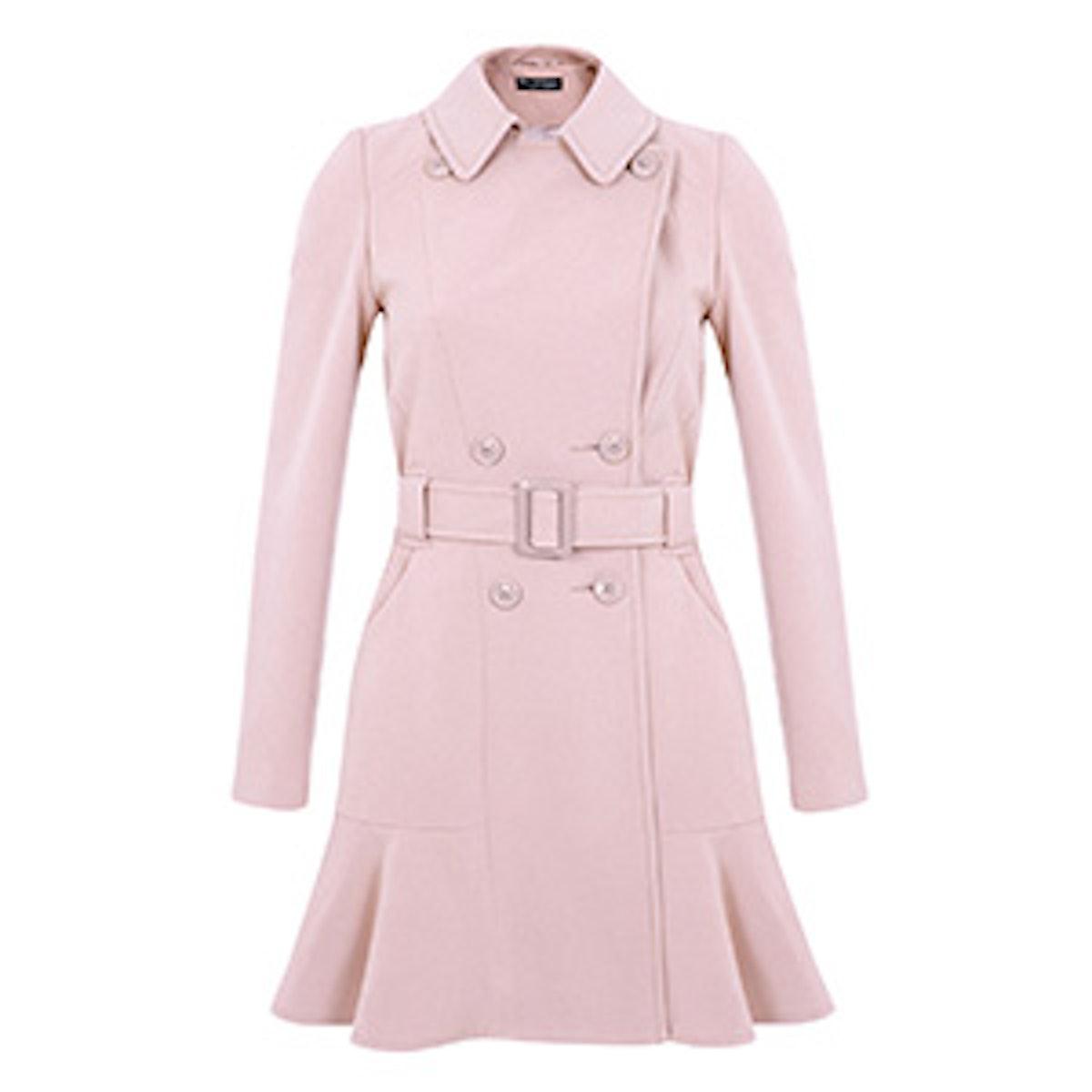 Peplum Hem Lightweight Coat