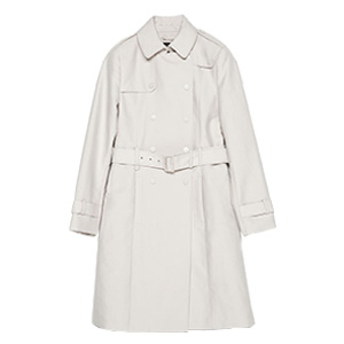 Long Cotton Trench Coat