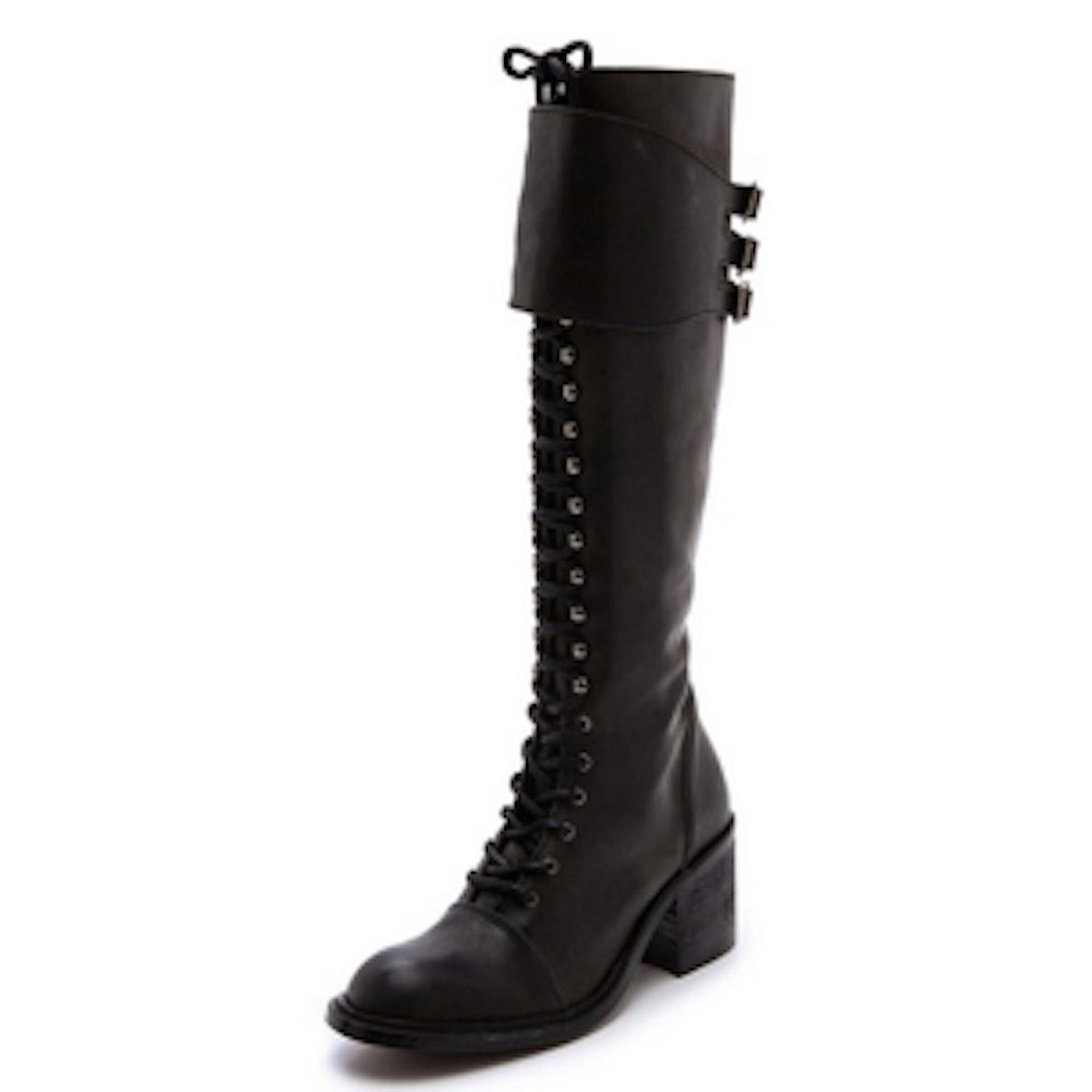 Tall Combat Boots