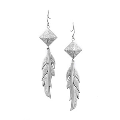 Plucked Feather Earrings