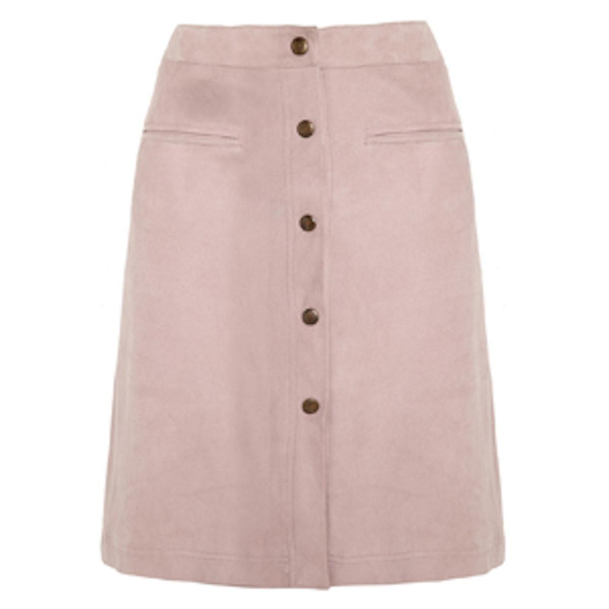 Pastel Suede Skirt
